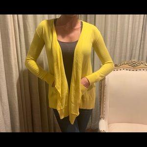 Diane Von Furstenberg yellow wool/cash cardigan
